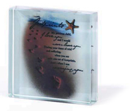 Footprints Glass Block  -