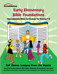 Bible Foundations Curriculum Grades 1-3 Fall, Year A - PDF Download  [Download] -     By: Christian Ed Publishers