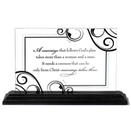 Marriage Takes Three Tabletop Plaque  -