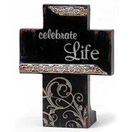 Celebrate Life Tabletop Cross  -