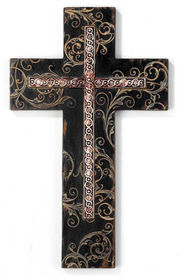 Scrolled Wall Cross  -