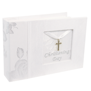 Christening Day Photo Album, White  -