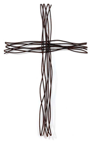 Wire Wall Cross  -