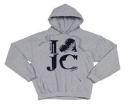 I Love JC Hoodie, Gray, Large  -