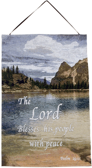 The Lord Blesses His People Wall Hanging  -