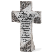 No Tears in Heaven Tabletop Cross   -