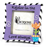 Rejoice in the Lord Magnet Photo Frame  -