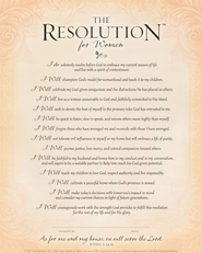 The Resolution for Women--Frame-Ready Print   -