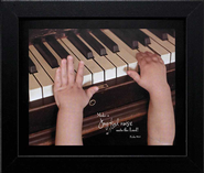 Little Hands, Make a Joyful Noise Framed Print  -     By: Nina Graff