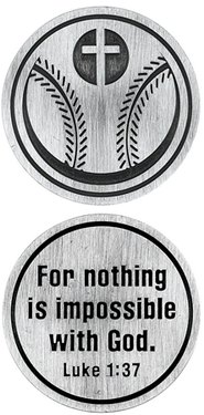 For Nothing is Impossible Baseball and Cross Pocket Stone  -