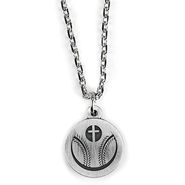 Baseball and Cross Necklace  -