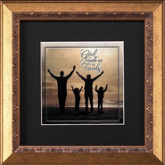 God Made Us a Family Framed Print  -