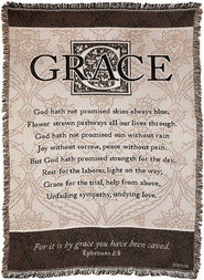 For it is By Grace Throw  -