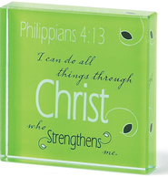 I Can Do All Things Glass Plaque  -