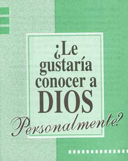 ?Le Gustarma Conocer a Dios Personalmente? Paq. de 25 (Knowing God Personally tracts, pack of 25)  -     By: Bill Bright