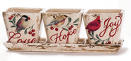 Love Joy Hope Planters and Tray  -
