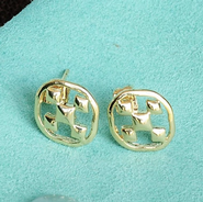 Shield of Faith, Post Earrings, Gold Plated   -