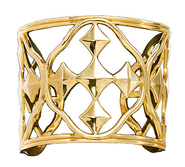 Shield of Faith Cuff Bracelet, Gold Plated  -