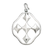 Shield of Faith Pendant Charm, Silver Plated  -