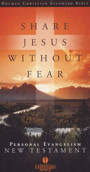 HCSB Share Jesus Without Fear NT, Black Bonded Leather     -