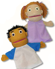 IncrediWorld Amazement Park VBS Boy & Girl Puppets   -