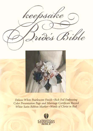 HCSB Bride's Bible White with Silver                                     -