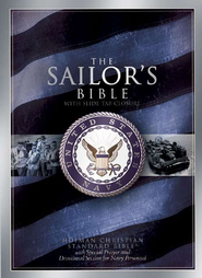 HCSB Sailor's Military Bible, bonded leather, black  - Imperfectly Imprinted Bibles  -