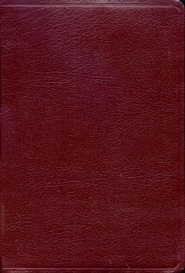 HCSB UltraThin Reference Bible, Large Print Bonded Leather, Burgundy            -