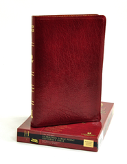 HCSB UltraThin Reference Bible, Large Print Genuine Leather, Burgundy, Thumb-Indexed  -