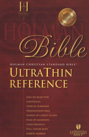 HCSB UltraThin Reference Bible, Bonded Leather, Thumb-Indexed    -