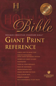 HCSB Giant Print Bible, Imitation leather, black  -