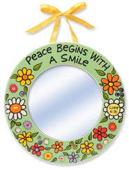 Peace Begins With A Smile Mirror  -