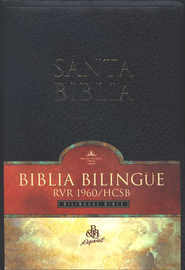 Biblia Bilingue RVR 1960/HCSB, Piel Imit., Negro  (RVR 1960/HCSB Bilingual Bible, Imit. Leather, Black)  -