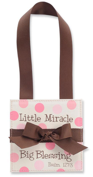 Little Miracle Door Hanger, Pink  -