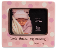 Little Miracle Photo Frame, Pink  -