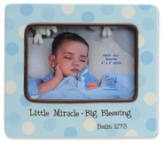 Little Miracle Photo Frame, Blue  -