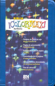 Biblia &#161Colormax! RVR 1960, Azul El&#233ctrico  (RVR 1960 Colormax! Youth Bible, Electric Blue)  -