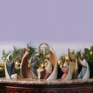 Legacy of Love Nativity, 9 Piece Set   -     By: Kim Lawrence