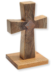 Standing Cross, Solid Wood, Handcrafted 11.5   -