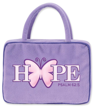 Hope Butterfly Plush Cover, Purple  -