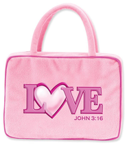 Love Heart Plush Cover, Pink  -