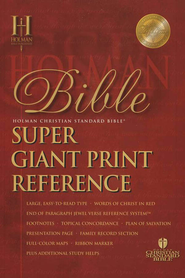 HCSB Super Giant Print Reference Bible, Imitation Leather, black  -