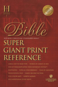 HCSB Super Giant Print Reference Bible, Imitation Leather, burgundy Thumb-Indexed  -
