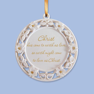 Christ Has Come to Earth Angel Ornament  -