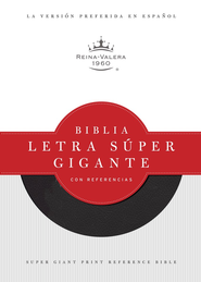Biblia Letra Super Gig. con Ref. RVR 1960, Piel Fab. Negra Ind.  (RVR 1960 Super Gtpt. Ref. Bible, Black Bond. Leather Ind.)  -     Edited By: B&H Espanol Editorial Staff