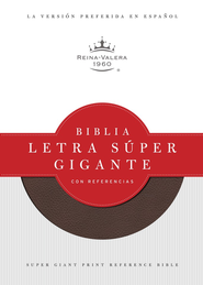 Biblia Letra Super Gig. con Ref. RVR 1960, Piel Imit. Rojiza I.  (RVR 1960 Super Gtpt. Ref. Bible, Burgundy Imit. Leather I.)  -     Edited By: B&H Espanol Editorial Staff
