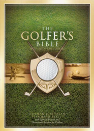 Holman Christian Standard Bible Golfer's Bible, British Tan Bonded Leather  -