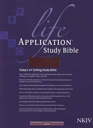 NKJV Life Application Study Bible, Bonded leather, Burgundy  - Imperfectly Imprinted Bibles  -