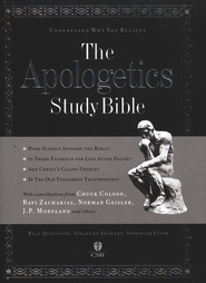 HCSB Apologetics Study Bible, Hardcover, Thumb-Indexed   -