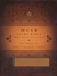 HCSB Study Bible, Brown & Tan Simulated Leather  -
